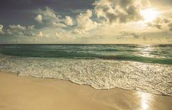 Retro stylowy wizerunek plaża Fotografia Royalty Free