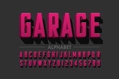 Retro stylu zgęszczony typeface ilustracja wektor