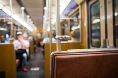 Retro subway car Royalty Free Stock Photos