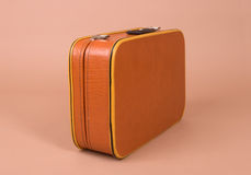 Retro suitcase stock photo