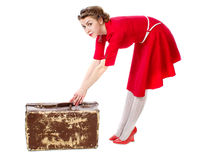 Retro suitcase Stock Photography