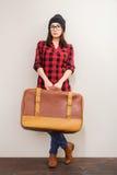 Retro suitcase. Royalty Free Stock Photos