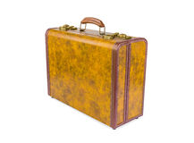 Retro suitcase of genuine leather royalty free stock image