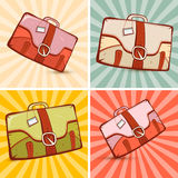 Retro Suitcase Set Illustration Royalty Free Stock Images