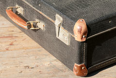 Retro a suitcase for travel Royalty Free Stock Photography