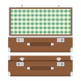 Retro suitcase for travel Stock Images