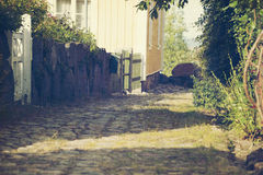Retro summer alley Stock Photography
