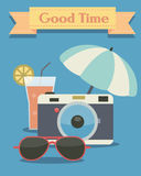 Retro summer background. This image is a vector illustration Royalty Free Stock Photos