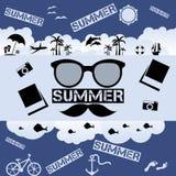 Retro summer  flat illustration Stock Photo