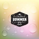 Retro summer label in doodle sketch style isolated Stock Photos