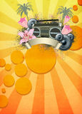 Retro summer party background Stock Image
