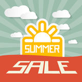Retro Summer Sale Paper Title Royalty Free Stock Photos