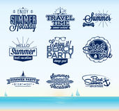 Retro summer typography design Royalty Free Stock Photography