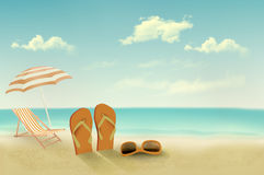 Retro summer vacation background. Royalty Free Stock Photos