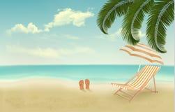 Retro summer vacation background royalty free illustration