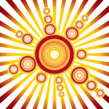 Retro Sun. Background for your design Royalty Free Stock Photos