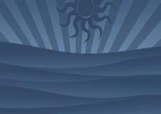 Retro sun royalty free illustration