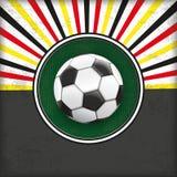 Retro Sun Cover Green Hole Germany Football Stock Photography