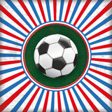 Retro Sun Cover Hole France Football Stock Image