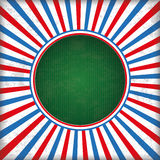 Retro Sun Cover Red Blue Centre Royalty Free Stock Photography