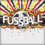 Retro Sun Football Fussball Germany Stock Photo