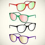 Retro sun glasses summer, plastic, lens, color, Stock Image