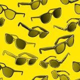 Retro sun glasses summer, plastic, lens, color, Royalty Free Stock Photos
