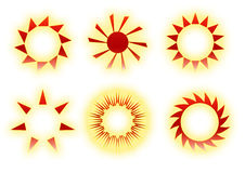 Retro sun icons Royalty Free Stock Photo