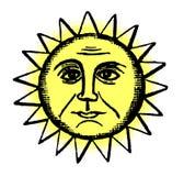 Retro Sun Illustration Royalty Free Stock Photos
