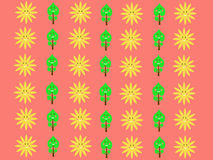 Retro sun kids pattern wallpaper background Royalty Free Stock Photo