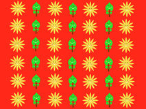 Retro sun kids pattern wallpaper background Stock Photo