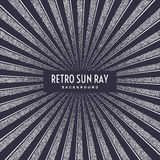 Retro sun ray on background. Royalty Free Stock Photos