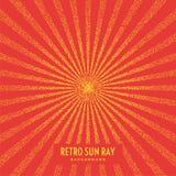 Retro sun ray on background. Royalty Free Stock Image