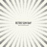 Retro sun ray on background. Stock Photo