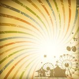 Retro sunburst background vector illustration