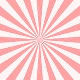 Retro sunburst bakgrund för söt rosa godis Sol och str?lar ocks? vektor f?r coreldrawillustration royaltyfria bilder