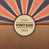 Retro sunburst cover layout Stock Photography