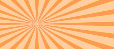 Retro sunburst ray in vintage style. Abstract comic book background. stock illustration