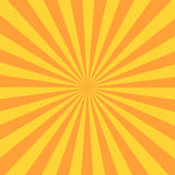 Retro sunburst ray in vintage style. Abstract comic book background Stock Photos