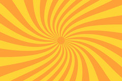Retro sunburst ray in vintage style. Spiral effect. Abstract comic book background. Vector stock illustration