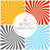 Retro sunburst rays set in vintage style. Spiral effect. Abstract comic book background royalty free illustration