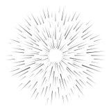 Retro sunburst vector sign Stock Photography