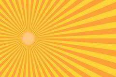 Retro sunburststråle i tappningstil Abstrakt humorbokbakgrund Arkivfoto