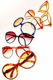 Retro sunglasses. High contrast picture of sunglasses in retro style, for woman only Stock Images