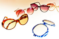 Retro sunglasses. High contrast picture of sunglasses in retro style, for woman only Stock Photography