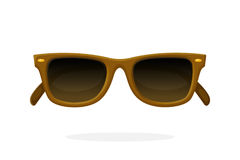 Retro sunglasses with brown horn-rimmed frames Royalty Free Stock Photography