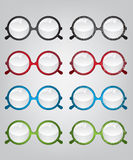 Retro sunglasses old and new illustration Royalty Free Stock Photo