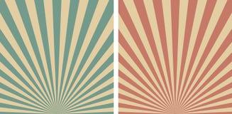 Retro sunrise Sun Rays vector template background Royalty Free Stock Image