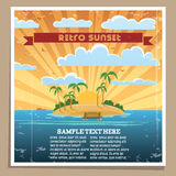 Retro Sunset Poster Royalty Free Stock Images