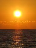Golden Sunset in Cyprus Royalty Free Stock Photo